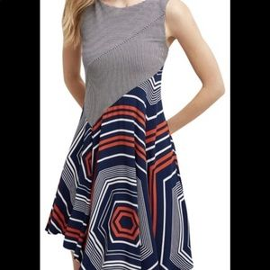Anthropologie, Maeve asymmetrical design dress